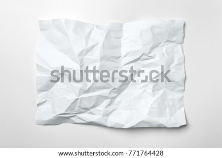 White crumpled paper Royalty-Free Stock Photo #771764428