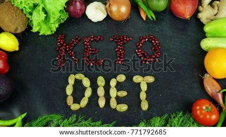 Keto diet fruit stop motion #771792685