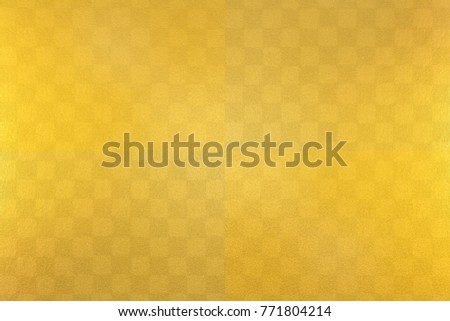 Japanese gold checkered traditional paper texture background