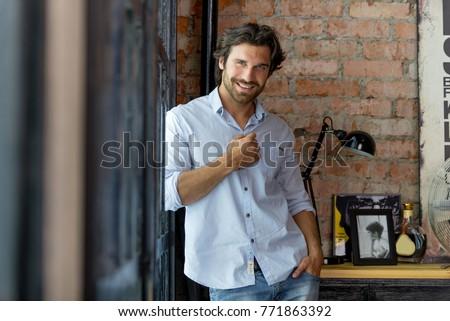 Portrait of handsome man #771863392