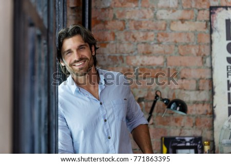 Portrait of handsome man #771863395