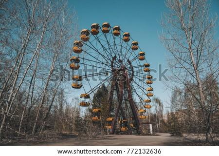 Amusement park. Chernobyl disaster. Radioactive place. #772132636