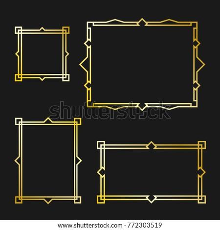 Set of Arabic frame #772303519