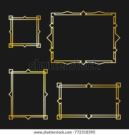 Set of Arabic frame #772318390