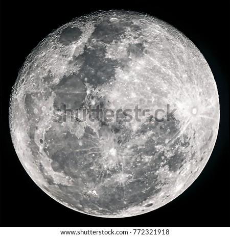 Super moon on black background