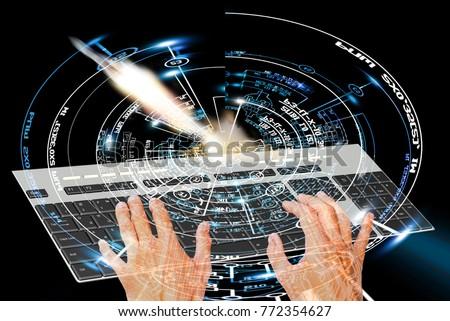spaceship technology 3d render #772354627