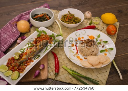 fish for lunch menu - Indonesian cuisine #772534960