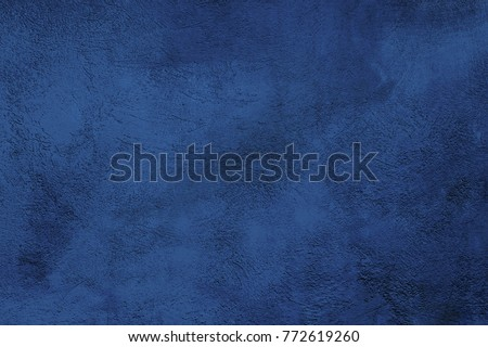 Beautiful Abstract Grunge Decorative Navy Blue Dark Stucco Wall Background. Art Rough Stylized Texture Banner With Copy Space For Text. Backdrop for design #772619260