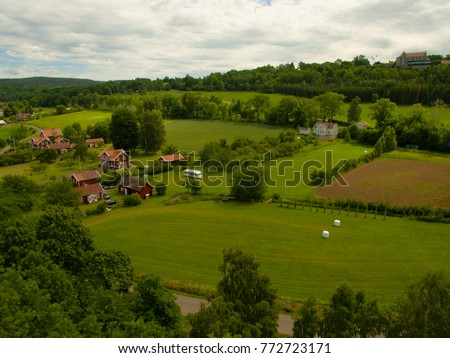 Sweden countryside aerial view #772723171