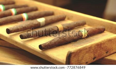 Sigaro Toscano Classico - a classic italian cigar Royalty-Free Stock Photo #772876849