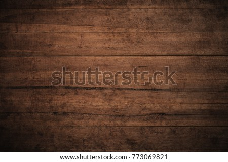 Old grunge dark textured wooden background,The surface of the old brown wood texture,top view brown wood panelitng #773069821