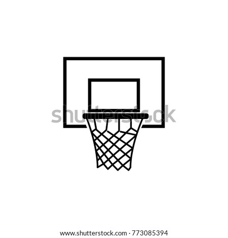 basketball basket icon. Sports Accessory icon. Sport element icon. Premium quality graphic design. Signs, outline symbols collection icon for websites, web design, mobile app on white background