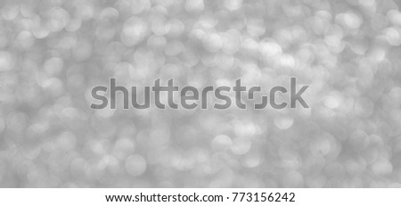 Silver background Abstract Bokeh Christmas. #773156242