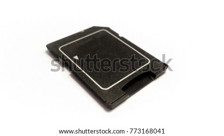 Small black storage device placed on a white background. #773168041