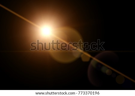 Lens Flare Effect Royalty-Free Stock Photo #773370196