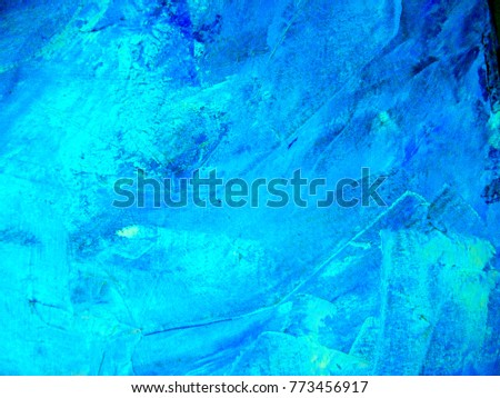 Abstract Textures blue oil  #773456917