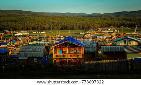 village houses on Lake Baikal #773607322