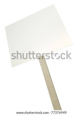Blank protest banner isolated over white background. 3D render.