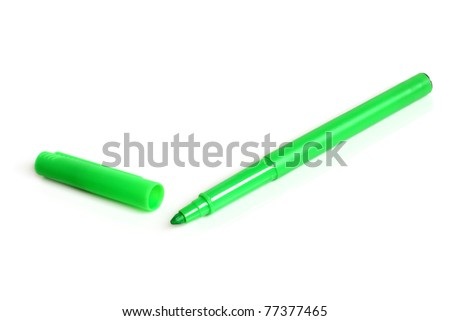 Green marker on a white background #77377465