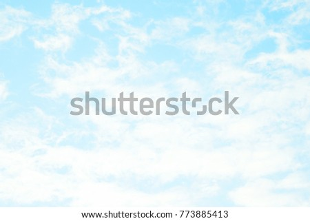 Blue sky with clouds background #773885413