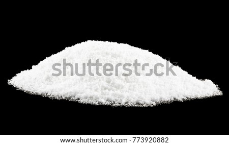 snow on a black background close-up #773920882