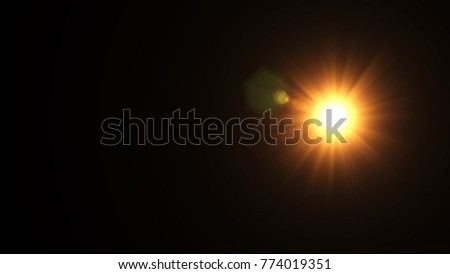 Digital Natural lens flare , Abstract overlays background. #774019351