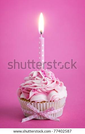 Birthday cupcake #77402587