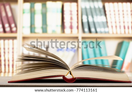 Open book in library #774113161