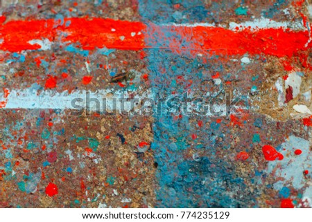 Color stains fall on the floor. Colorful Good for background work. #774235129