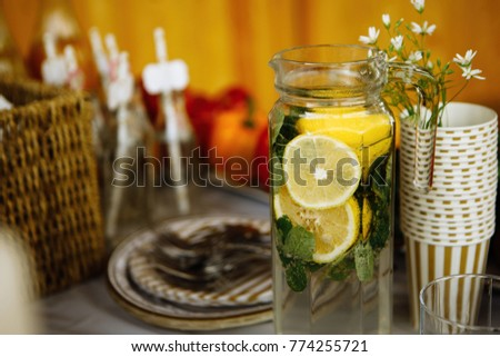 Homemade natural lemonade #774255721