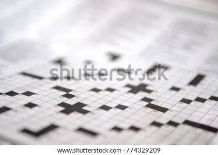 Blank crossword puzzle waiting to be filled in. #774329209