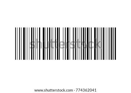 Barcode vector icon. Bar code for web