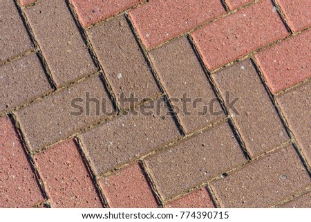 Texture of the paving slabs for background #774390715
