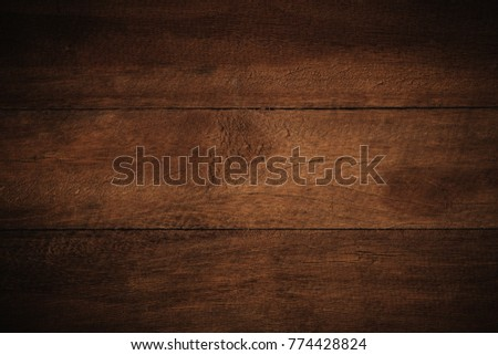 Old grunge dark textured wooden background,The surface of the old brown wood texture,top view brown wood panelitng #774428824