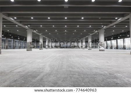 interior of empty exhibition place #774640963