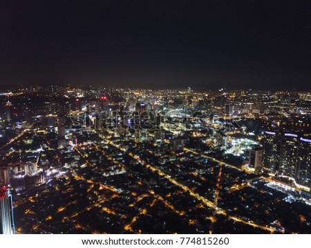 BLURRED BACKGROUND VIEW OF KUALA LUMPUR CITY #774815260