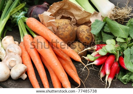 Collection of fresh vegetables #77485738