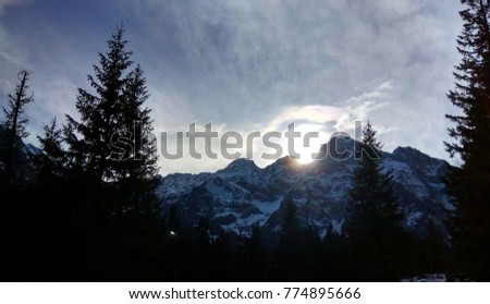 Beautiful snowy mountain scenery #774895666