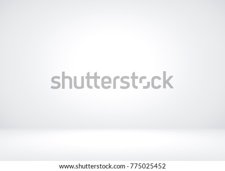 Abstract Empty Dark White Grey gradient with Black solid vignette lighting Studio wall and floor background well use as backdrop. Background empty white room with space for your text and picture. Royalty-Free Stock Photo #775025452