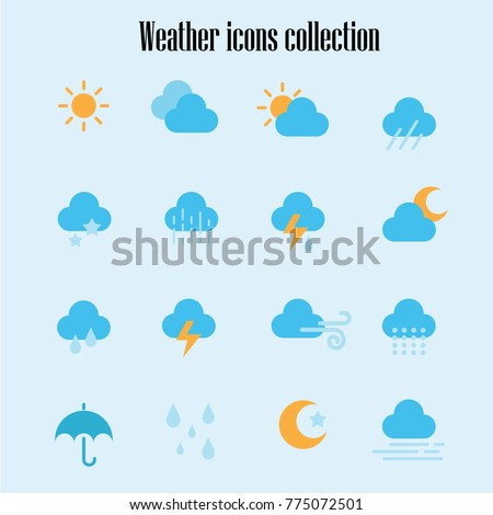 Weather icons collection #775072501