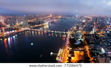 Da Nang city at twilight #775086475