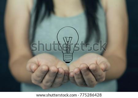 Concept of innovative idea #775286428