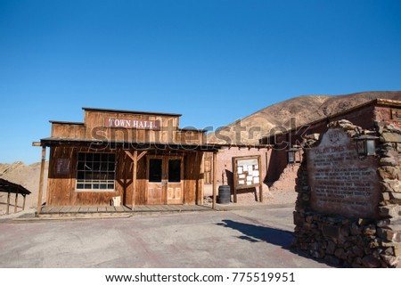 Calico Ghost Town in California, USA Royalty-Free Stock Photo #775519951