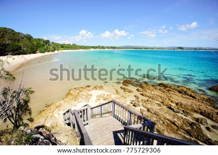 Stairs at The Pass, Byron Bay. #775729306