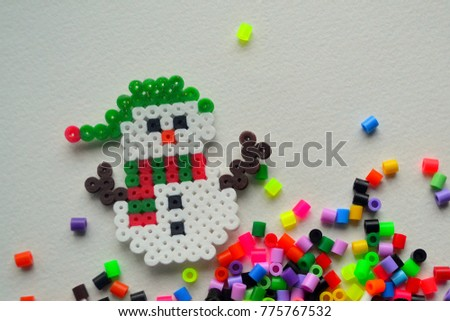 Crafts made of beads on the theme of winter and New Year's holidays with their own hands. #775767532