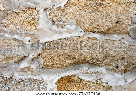 Coquina shell walls st augustine stone rock concrete florida background #776077138