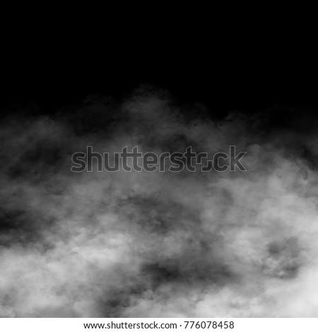 Fog, smoke and mist effect on black background. #776078458