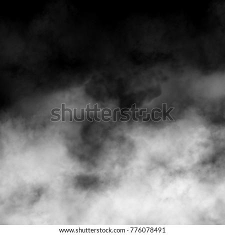 Fog, smoke and mist effect on black background. #776078491