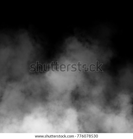 Fog, smoke and mist effect on black background. #776078530