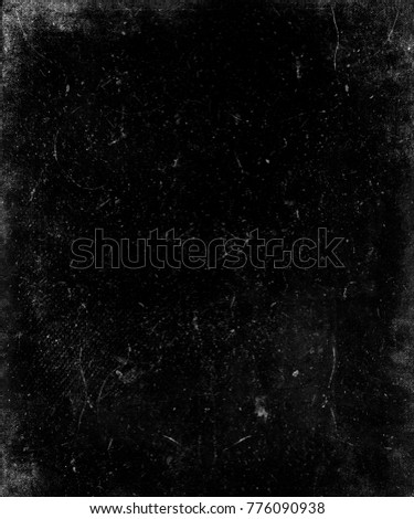 Black grunge scratched background. Obsolete distressed texture. #776090938